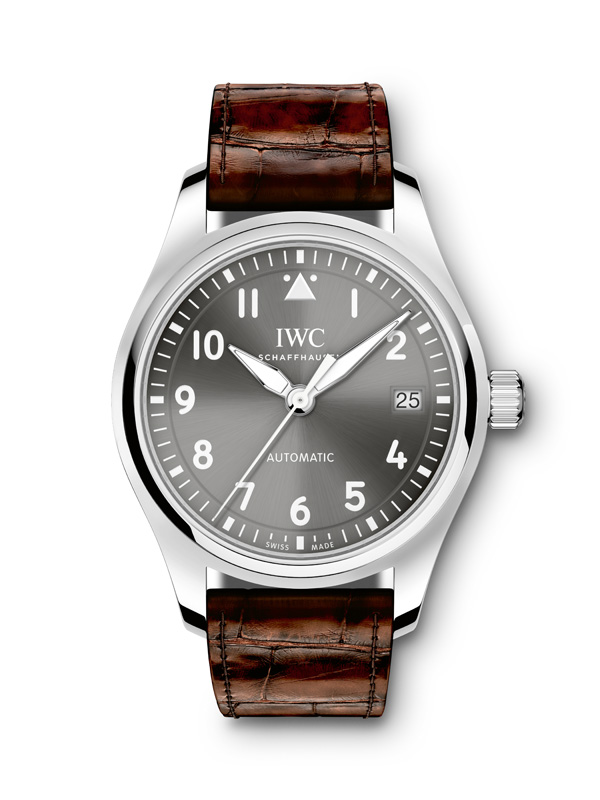 White Gold Bezel Replica IWC Pilot Automatic Watches