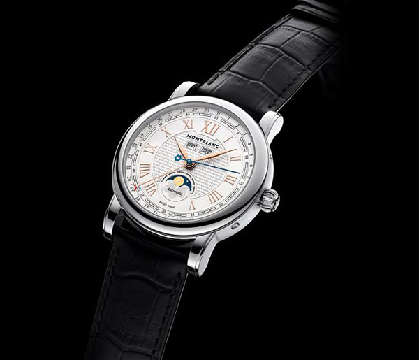 White Gold Bezel Montblanc Star Roman Copy Watches