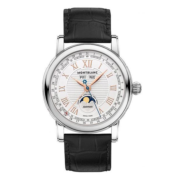 whit egold bezel Montblanc Star Roman copy watches