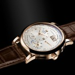 brown leather strap replica A. Lange & Sohne Lange 1 Time Zone