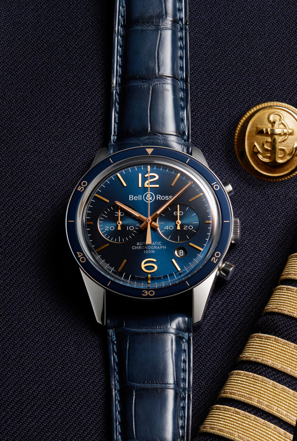 Blue Dial Replica Bell & Ross Vintage Br Aeronavale Watches Specially Designed For You