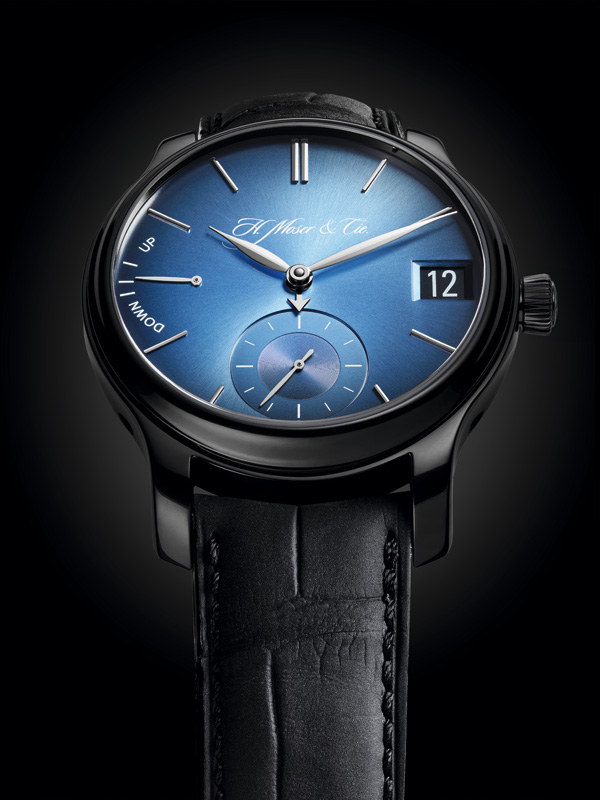 Wearing HMC 341 Movement Fake H. Moser & Cie. Endeavour Perpetual Calendar Funky Blue WatchesWith Karl Heinz Riedle