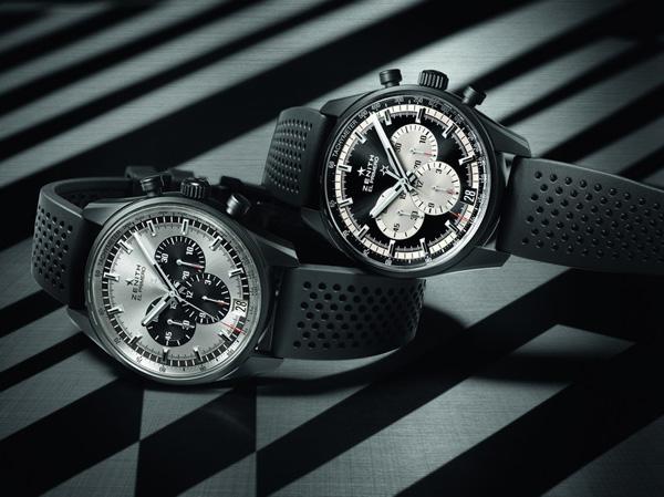 black rubber strap replica Zenith El Primero 36000 VPH Watches