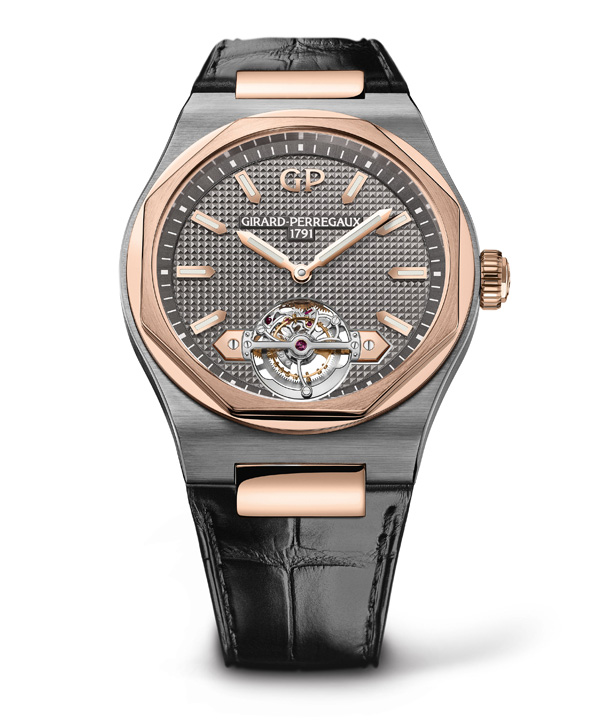 rose gold case copy Girard Perregaux Laureato