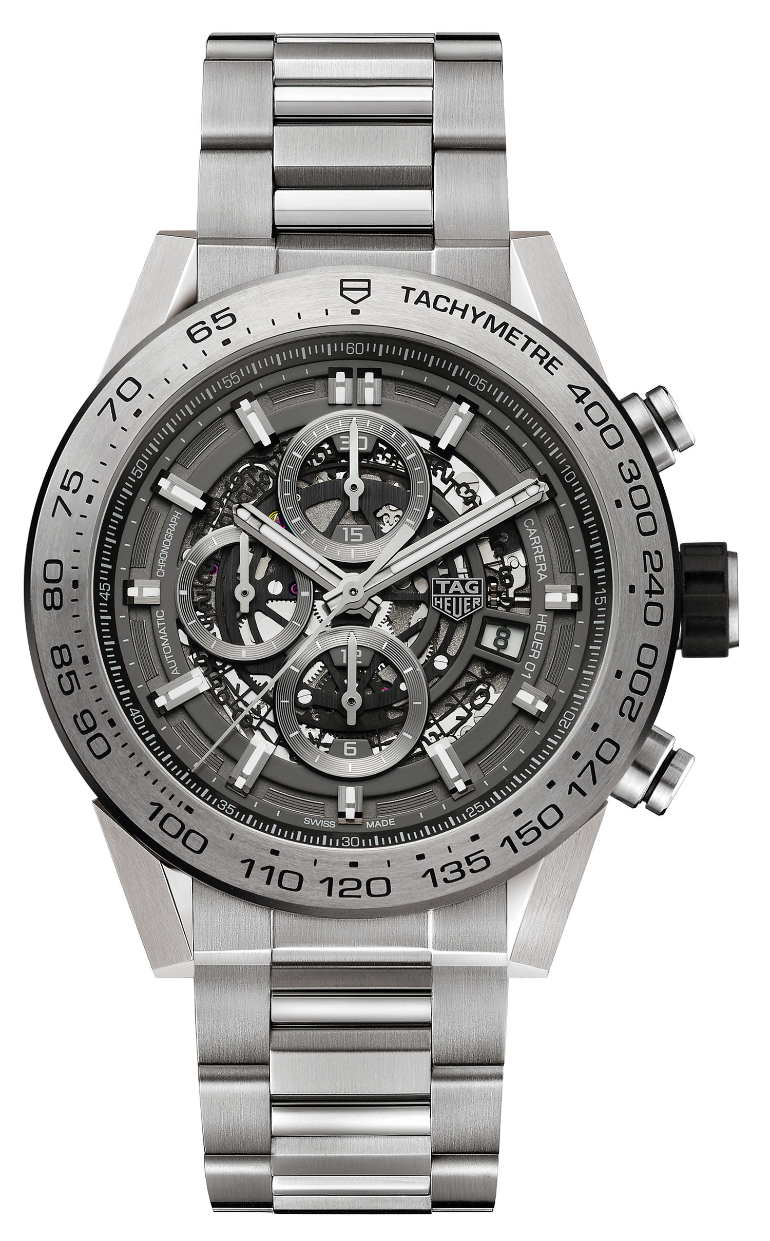 steel case fake TAG Heuer Carrera Heuer 01 Chronograph