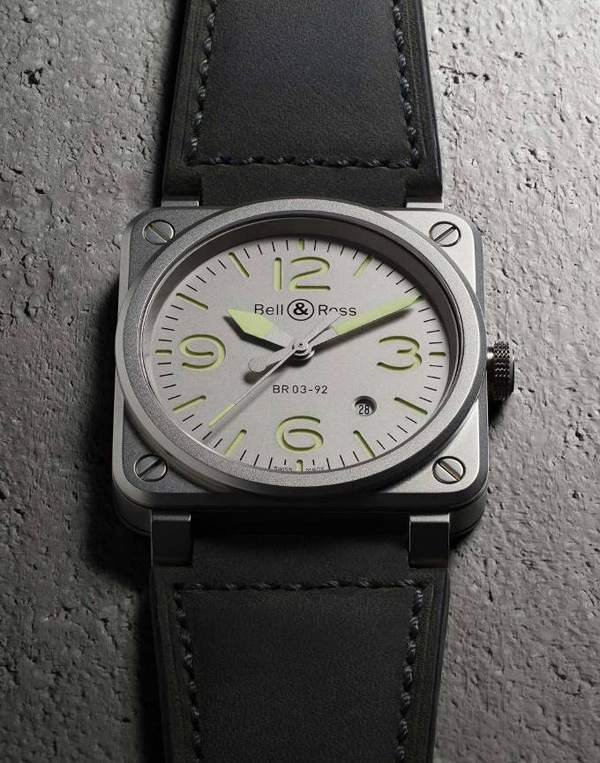 grey dial fake Bell & Ross BR03 -92 Horolum