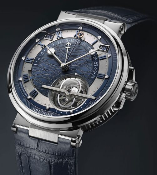 New Breguet Marine Fake Cheap Watches With Blue Leather Straps For 2017 BaselWorld