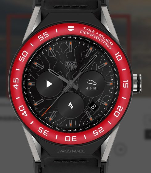 TAG Heuer Connected Fake Swiss Cheap Watches With Black Calf Straps For Sale