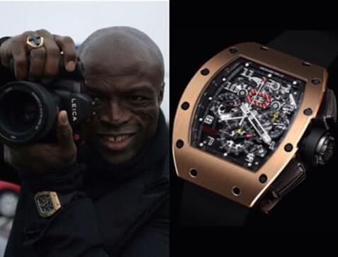 Singer Seal Henry Samuel's Special Replica Richard Mille RM 011 Flyback Chronograph Watches