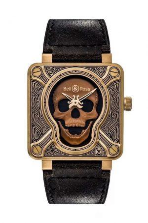 Unique Bronze Dials BELL & ROSS BR01 Burning Skull Bronze Replica Watches