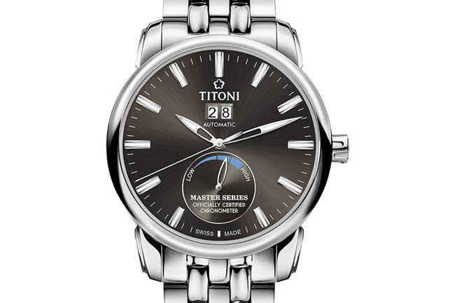 Titoni Master copy watches with grey dials are low-file.