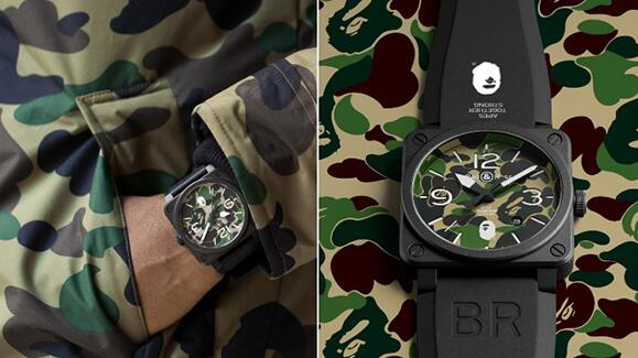 Forever reproduction watches are classic with green camouflage patterns.