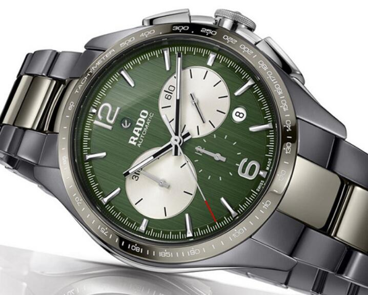 The grass green dials will remind the wearers of the tennis court.