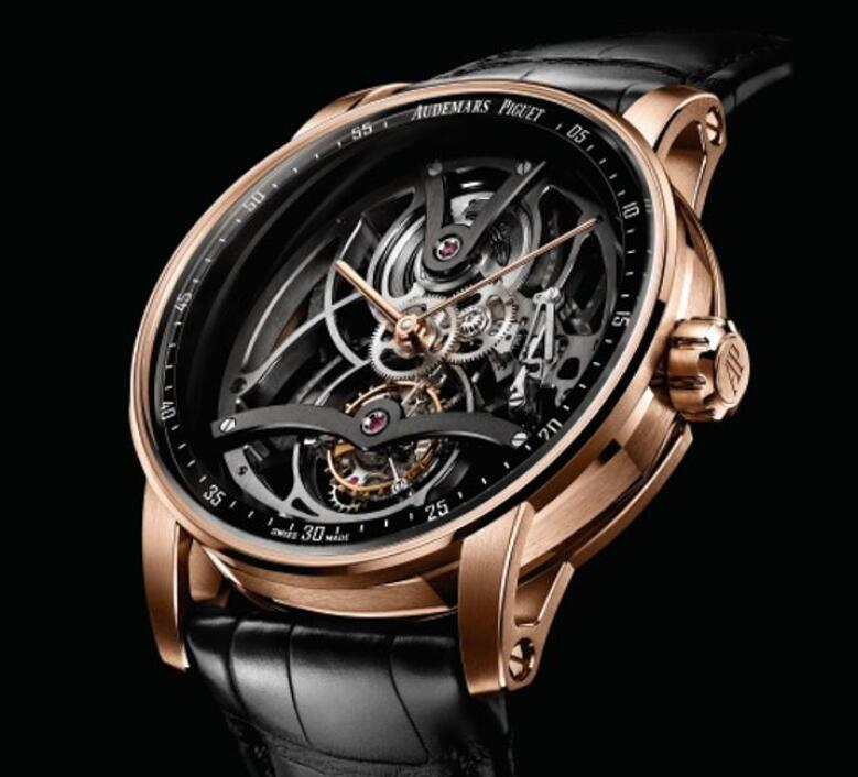 The skeleton dial is technological ane futuristic.