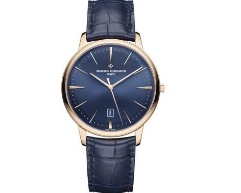 The blue dial Vacheron Constantin looks profound and charming.