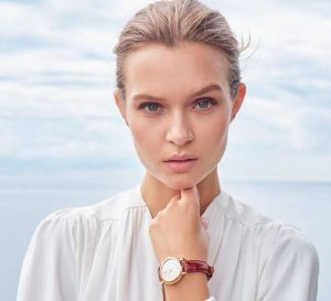 Josephine Skriver With CA Elegant IWC Portofino Replica Watches