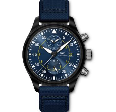 With the blue dial and black case, the IWC is best choice for modern men.