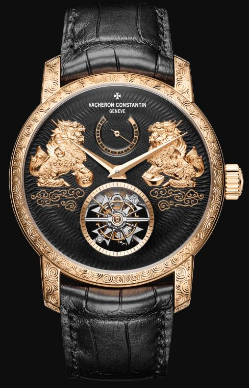 Swiss-made fake watches are delicate with tourbillon at 6 o'clock.