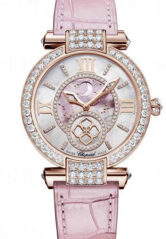 Best fake watches show the best charm with pink color.
