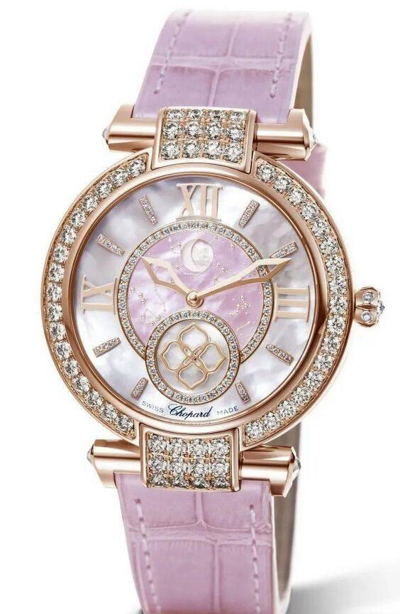 Online replica watches are charming with diamond decorations.
