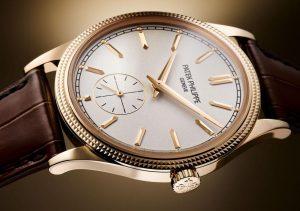 "CA Swiss Rose Gold Patek Philippe Calatrava ""Clous de Paris"" Ref. 6119 Fake Watches"